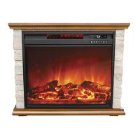 Lifesmart Compact Stone Accent Fireplace Portable Heater