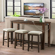 Picket House Furnishings Dex Multipurpose Bar Table Set - Dark Walnut