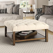 Berkley Jensen Tufted Coffee Table with Serving Tray