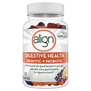 Align Digestive Health Prebiotic and Probiotic Supplement Gummies in Natural Fruit Flavors, 90 ct.