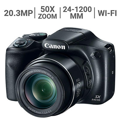 Canon PowerShot SX540 HS 20.3 MP CMOS 50X Zoom Wi-Fi Camera