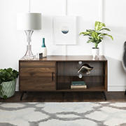 "W. Trends 52"" Mid Century Modern TV Stand for Most TV's up to 58"" - Dark Walnut"