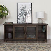 "W. Trends 58"" Storage Console TV Stand - Dark Walnut"