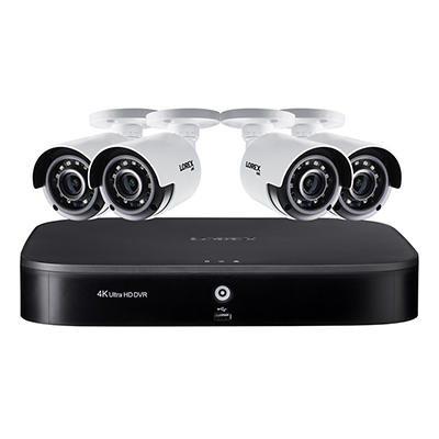 Lorex 8-Channel 4-Camera 4K Security System with 2TB HDD DVR