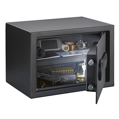 Stack-On Personal Safe with Electronic Lock, Black