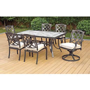 Berkley Jensen Lincoln 7-Pc. Tile and Cast Dining Set