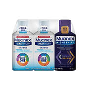 Mucinex Fast-Max Cold & Flu with Mucinex Night Shift Liquid Cold & Flu Variety Pack