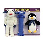 Multipet International Lambchop/Loofa/Penguin Dog Toys - Blue