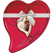 Dove Valentine's Day Chocolate Truffles Heart Tin, 9.82 oz.