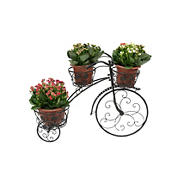 "Berkley Jensen 36"" Bike Plant Stand with Plant Pots"