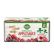 Wellsley Farms Organic Applesauce Pouches, 24 ct.