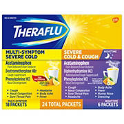 Theraflu Multi Symptom Severe Cold and Cough Pack, 24 ct.