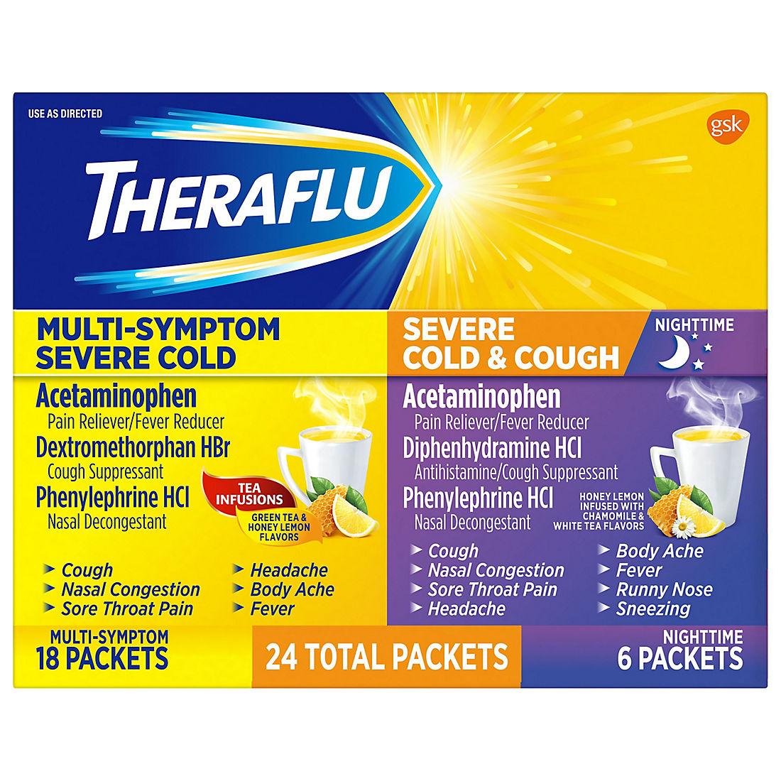 Theraflu Multi Symptom Severe Cold And Cough Pack 24 Ct
