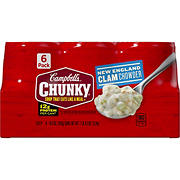 Campbell's Chunky New England Clam Chowder, 6 pk.