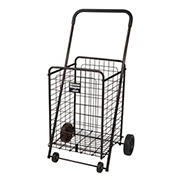 Winnie Wagon Shopping Cart with Adjustable Handle Height - Black