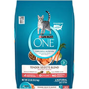 Purina ONE Tender Selects Blend With Real Salmon Natural Dry Cat Food, 22 lb.