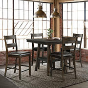 Picket House Furnishings Reid 5-Pc. Counter Height Dining Set - Dark Walnut