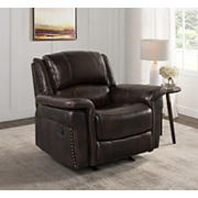 Hampton Point Bradford Top Grain Leather Recliner