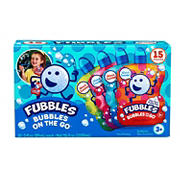 Fubbles Bubbles On the Go, 15 pk.