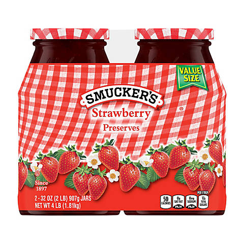 Smucker's Strawberry Preserves, 2 pk