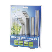 HiDR8 20-Pc. Stainless Steel Straw Set Variety Pack