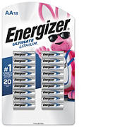 Energizer Ultimate Lithium AA Batteries, Double A Batteries, 18 ct.