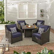 Berkley Jensen Montauk 5-Pc. Firepit Conversation Set