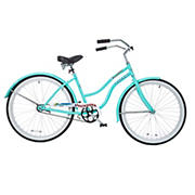 "Titan Docksider Women's 17"" Single Speed Beach Cruiser Bicycle - Seafoam Green"