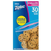 Ziploc 2 Gallon Freezer Storage Bags, 30 ct.