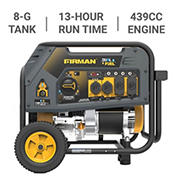 Firman H05752 7,100W Peak/5,700W Rated Dual Fuel Generator with Recoil Start