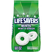 Life Savers Wint O Green Mints Candy, 60 oz.