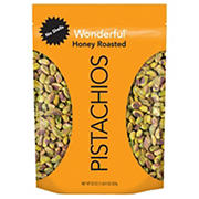 Wonderful No Shell Honey Roasted Pistachios, 22 oz.