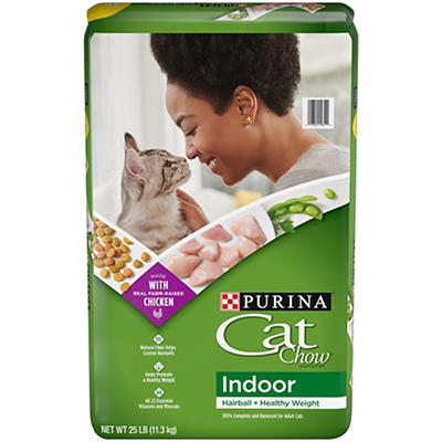 Purina Cat Chow Indoor Cat Food, 25 lbs.