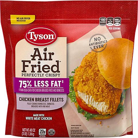 Tyson Air Fried Crispy Chicken Breast Fillets 3 Lbs Bjs