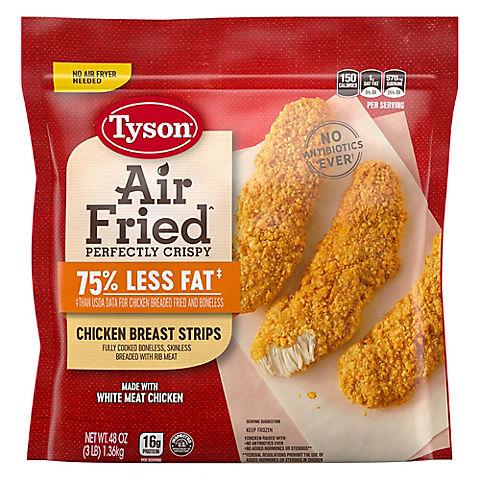 Tyson Air Fried Crispy Chicken Breast Strips Bjs Wholesale Club