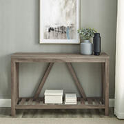 "W. Trends 52"" Modern Farmhouse Entryway Console Table - Gray Wash"