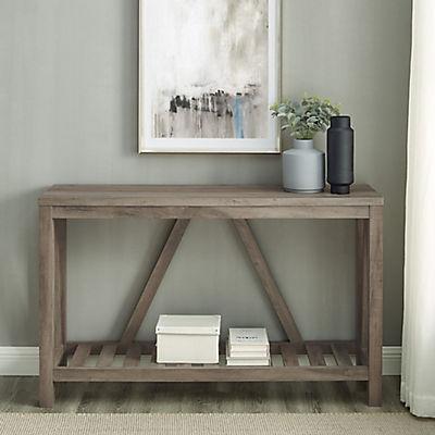 "52"" Modern Farmhouse Entryway Console Table - Gray Wash"
