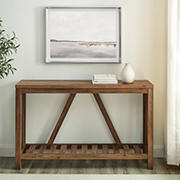 "W. Trends 52"" Modern Farmhouse Entryway Console Table - Rustic Oak"