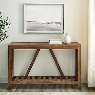 "52"" Modern Farmhouse Entryway Console Table - Rustic Oak"
