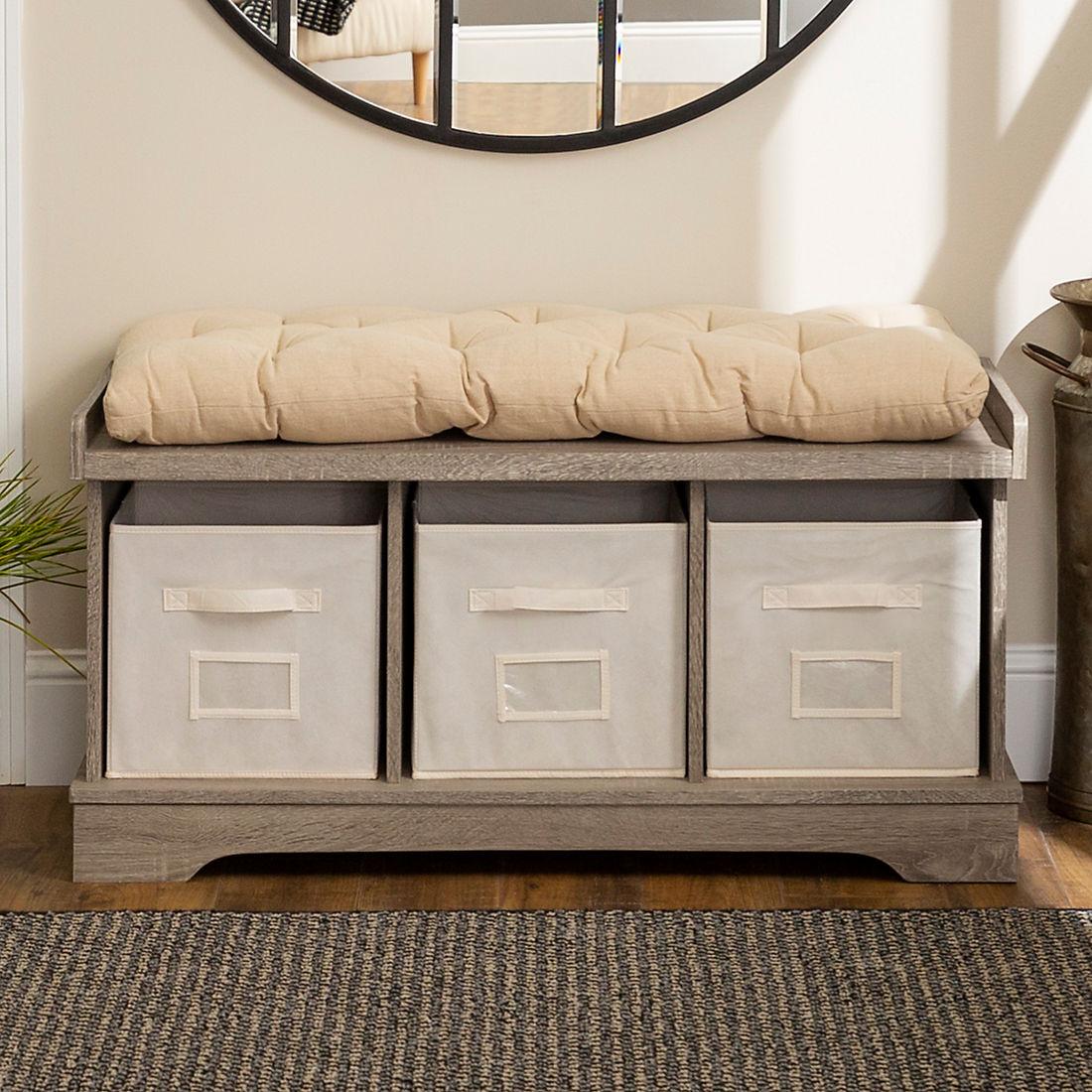 Cool 42 Farmhouse Entryway Storage Bench Driftwood Beatyapartments Chair Design Images Beatyapartmentscom