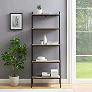 "72"" Industrial Ladder Storage Bookcase - Gray"