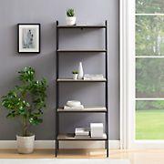 "W. Trends 72"" Industrial Ladder Storage Bookcase - Gray"