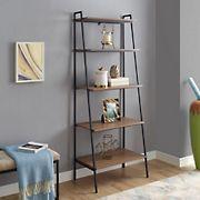 """W. Trends 72"""" Industrial Ladder Storage Bookcase - Brown"""