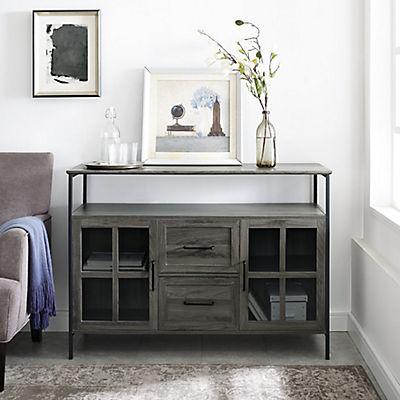 """48"""" Industrial 3-Door Buffet Storage Cabinet - Gray"""