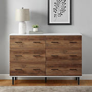 W. Trends Modern Wood 6-Drawer Buffet - Two-Tone Brown