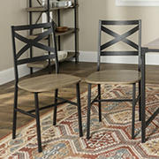 Industrial Wood Dining Chairs, 2 pk. - Driftwood