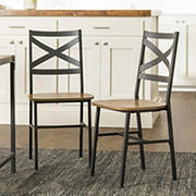 Industrial Wood Dining Chairs, 2 pk. - Barnwood