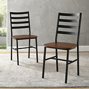 W. Trends Slat Back Dining Chairs, 2 pk. - Dark Walnut