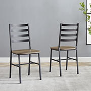 W. Trends Slat Back Dining Chairs, 2 pk. - Gray Wash