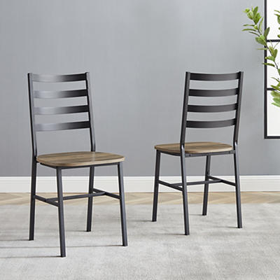 Slat Back Dining Chairs, 2 pk. - Gray Wash